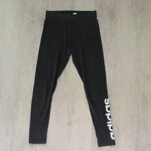 Black Adidas Logo Leggings Size Med